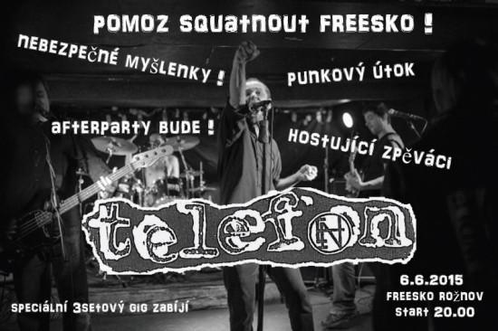 Koncert Telefon - Freesko Rožnov