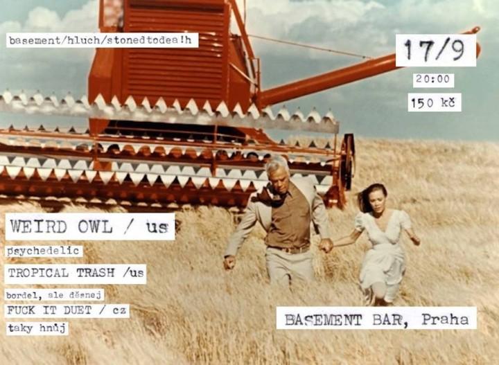 Sovy a hluch ze sklepení: Weird Owl 17/9 v pražským Basementu