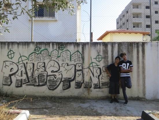 Abdullah a Omar, skateři z města Qalqilya