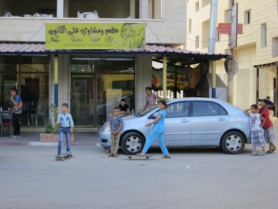 hlavní ulice ve městě Qalqilya